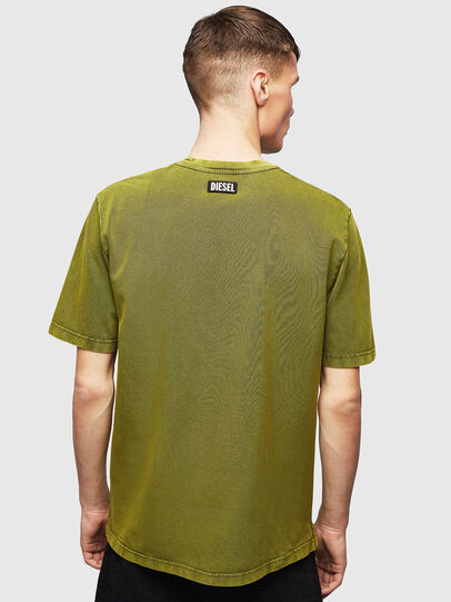 Diesel - T-JUST-SLITS-T15, Yellow - T-Shirts - Image 2