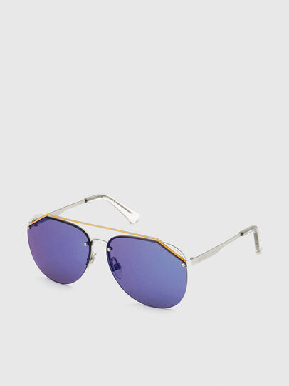 Diesel - DL0314, White/Blue - Sunglasses - Image 2