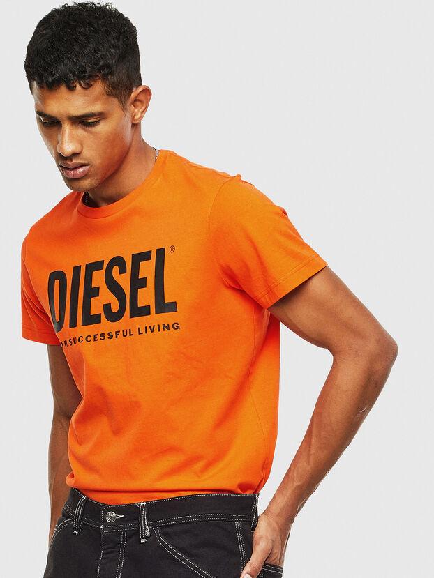 T-DIEGO-LOGO, Orange - T-Shirts