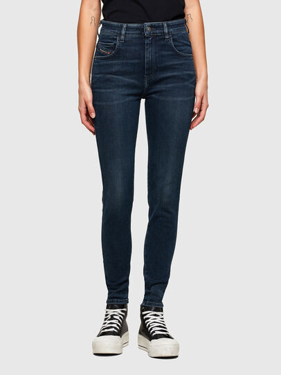 Diesel - Slandy High 009QF, Dark Blue - Jeans - Image 1