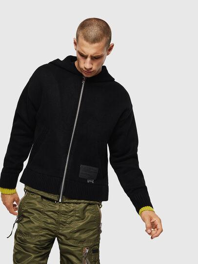 Diesel - K-NAVY, Black - Knitwear - Image 1