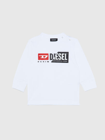 Diesel - TDIEGOCUTYB ML, White - T-shirts and Tops - Image 1