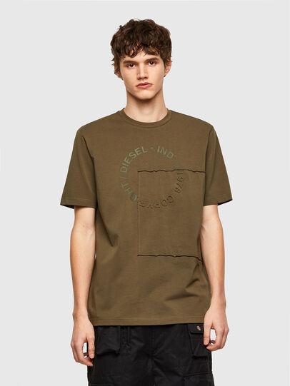 Diesel - T-JUSTEMB, Military Green - T-Shirts - Image 1