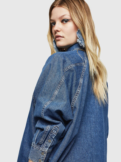 Diesel - DE-NOVA, Medium blue - Denim Shirts - Image 5