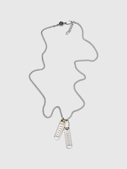 Diesel - DX1213, Silver - Necklaces - Image 1