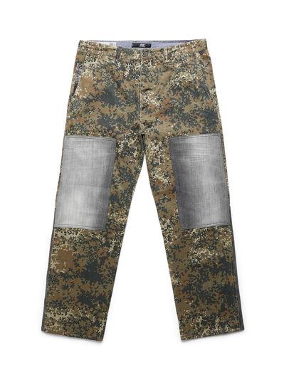 Diesel - D-ONT-HURT-ME, Green Camouflage - Pants - Image 1