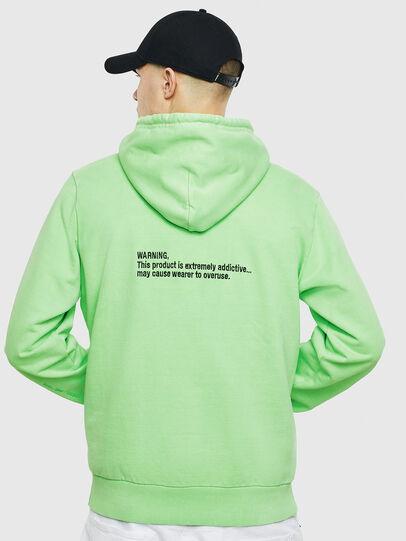 Diesel - S-GIRK-HOOD-FLUO, Green Fluo - Sweaters - Image 3