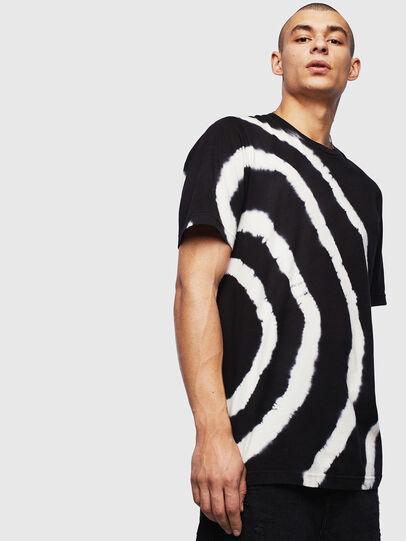 Diesel - T-JUST-T16, Black/White - T-Shirts - Image 1