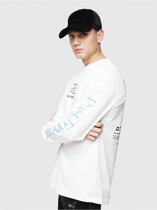 Diesel - T-JUST-LS-YB, White - T-Shirts - Image 3