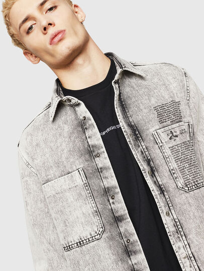 Diesel - D-MILOV, Grey - Denim Shirts - Image 4