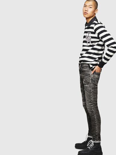 Diesel - Thommer JoggJeans 0890B, Black/Dark grey - Jeans - Image 4