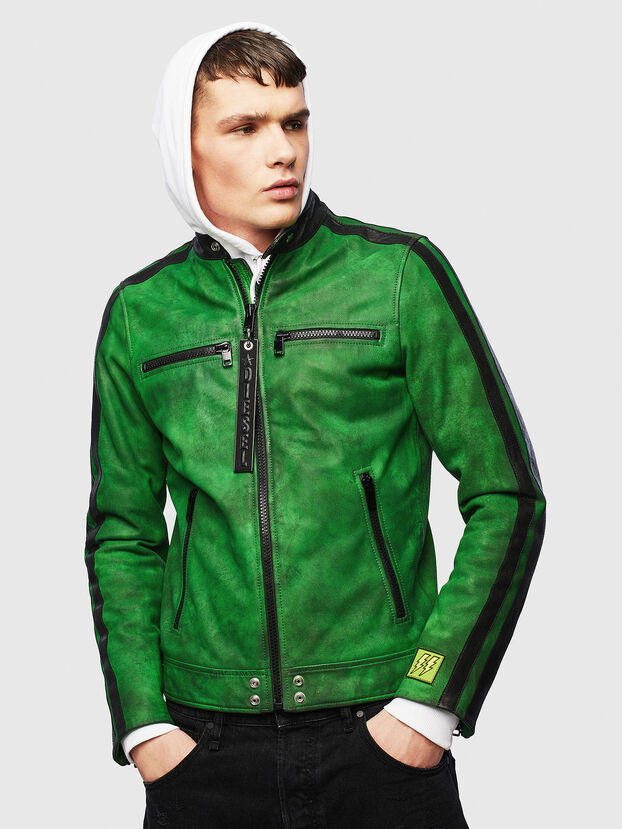 L-BOY-A, Green - Leather jackets