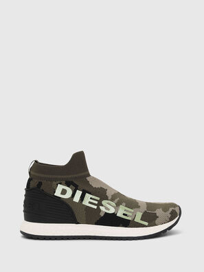 SLIP ON 03 LOW SOCK, Green Camouflage - Footwear