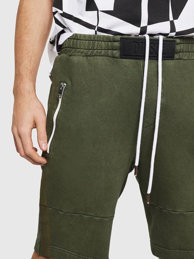 Diesel - P-BIRX, Dark Green - Shorts - Image 3