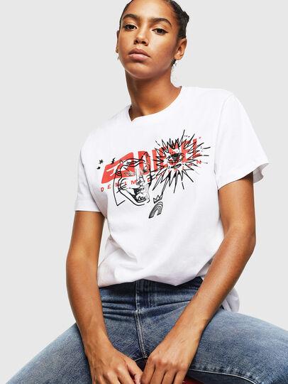 Diesel - T-DARIA-YC, White - T-Shirts - Image 4