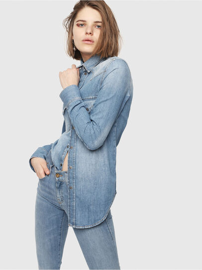 Diesel - DE-RINGY, Blue Jeans - Denim Shirts - Image 6
