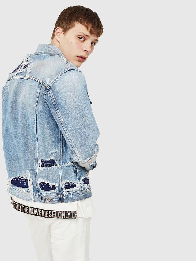 Diesel - NHILL-TM, Blue Jeans - Denim Jackets - Image 4