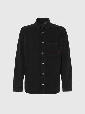 D-WEAR-B1, Black - Denim Shirts