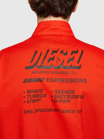 Diesel - J-HALLS-PRINT, Orange - Jackets - Image 4