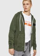 S-GIM-HOOD-ZIP, Dark Green - Sweaters