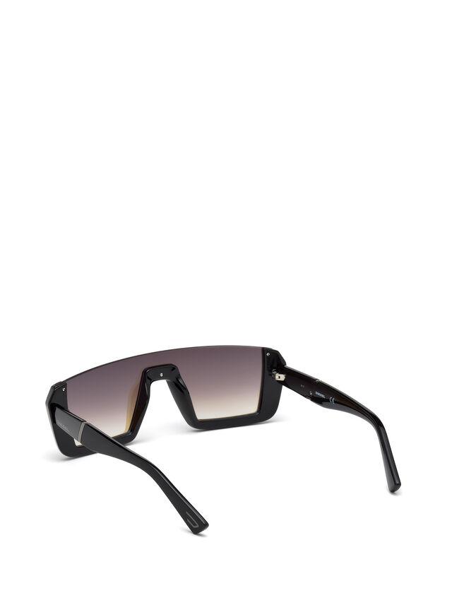 Diesel DL0248, Bright Black - Eyewear - Image 2