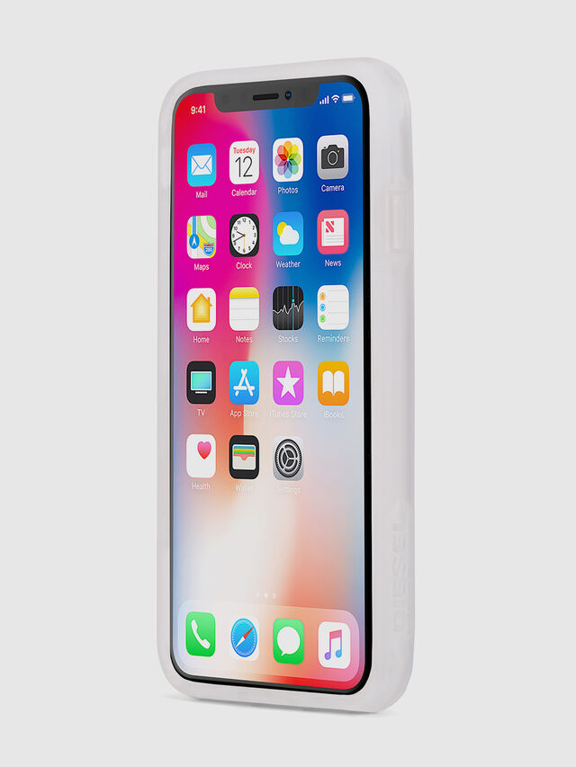 Diesel - BLAH BLAH BLAH IPHONE X CASE, White - Cases - Image 3