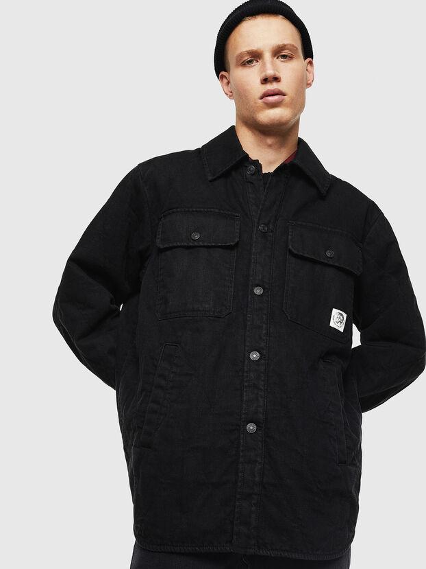 D-WELLES, Black - Denim Shirts
