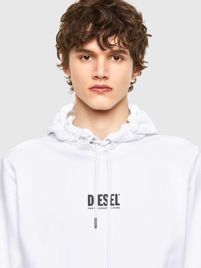 Diesel - S-GIRK-HOOD-SMALLOGO, White - Sweaters - Image 3