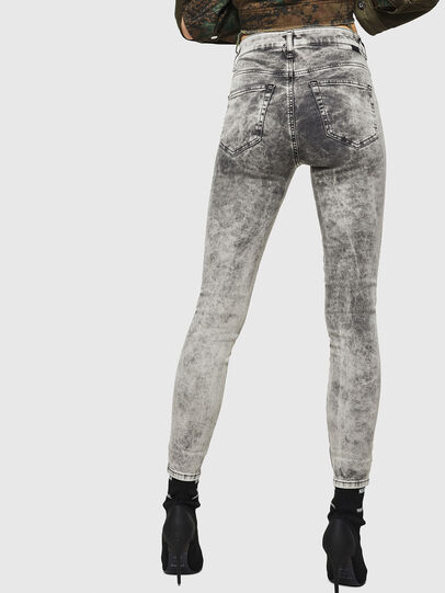 Diesel - Slandy High 069GQ, Light Grey - Jeans - Image 2