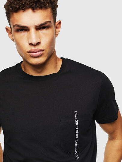 Diesel - T-RUBIN-POCKET-J1, Black - T-Shirts - Image 3