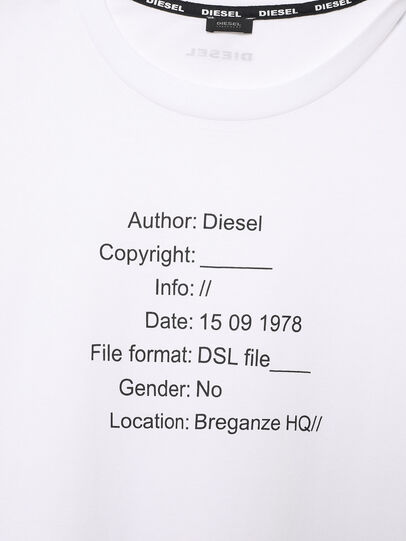 Diesel - UFTEE-ELODIE, White - T-Shirts - Image 3