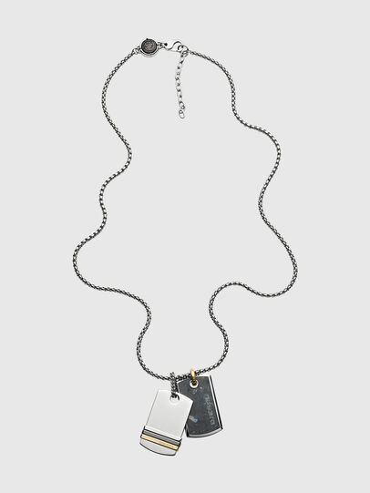 Diesel - DX1189, Silver - Necklaces - Image 1