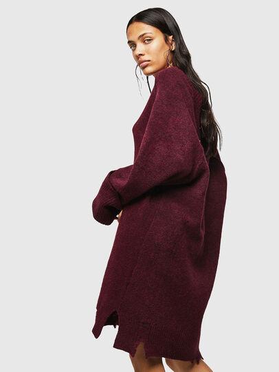 Diesel - M-NOELIA, Burgundy - Knitwear - Image 4
