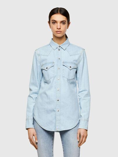 Diesel - DE-RINGY, Light Blue - Denim Shirts - Image 1