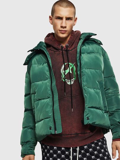 Diesel - W-SMITH-YA-WH, Dark Green - Winter Jackets - Image 4