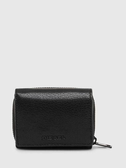 Diesel - SPEJAP, Black/Orange - Small Wallets - Image 1