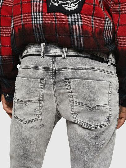 Diesel - Krooley JoggJeans 0091H, Light Grey - Jeans - Image 5