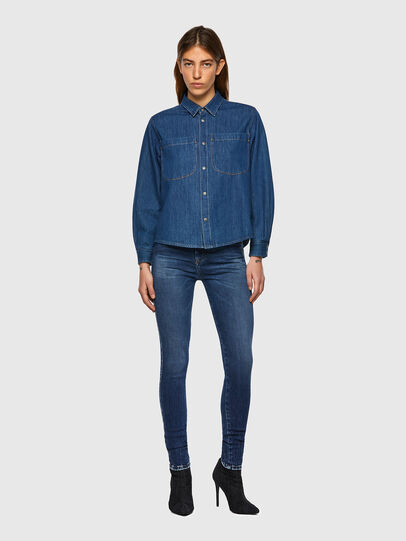 Diesel - DE-BEA-SP, Blue - Denim Shirts - Image 5