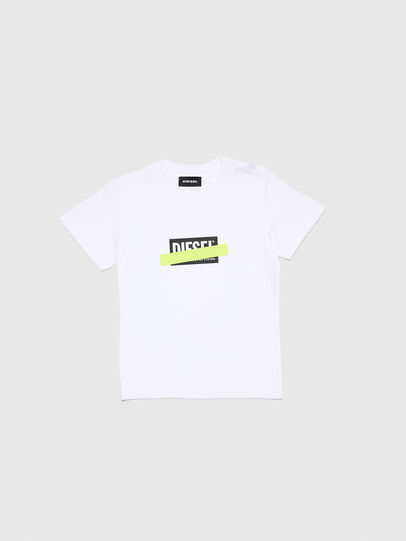 Diesel - TJUSTDIXB-R, White - T-shirts and Tops - Image 1