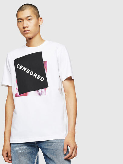 Diesel - T-JUST-BX1, White - T-Shirts - Image 1