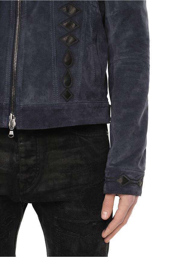 Diesel - LYRICH, Dark Blue - Leather jackets - Image 5