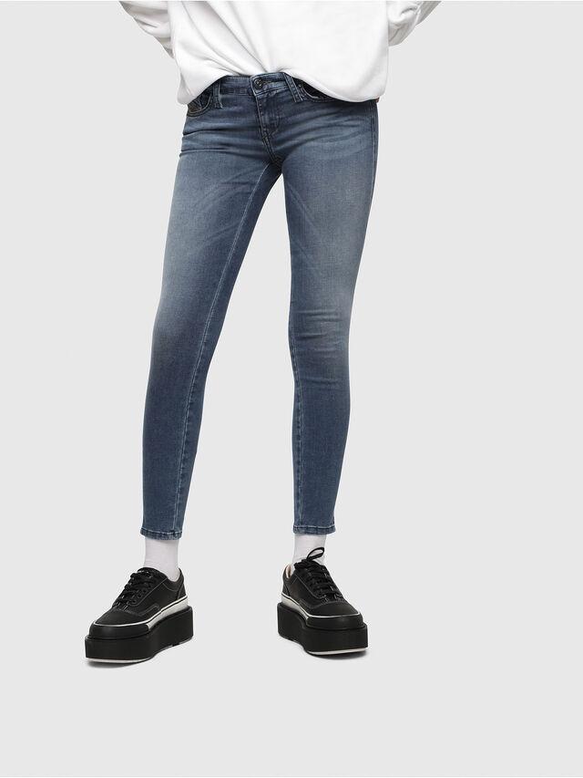 Diesel Skinzee Low Zip 0681P, Medium blue - Jeans - Image 1