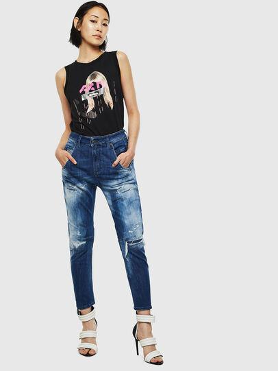 Diesel - Fayza JoggJeans 0099S, Dark Blue - Jeans - Image 6
