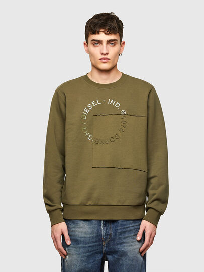 Diesel - S-GIRKEMB, Military Green - Sweaters - Image 1