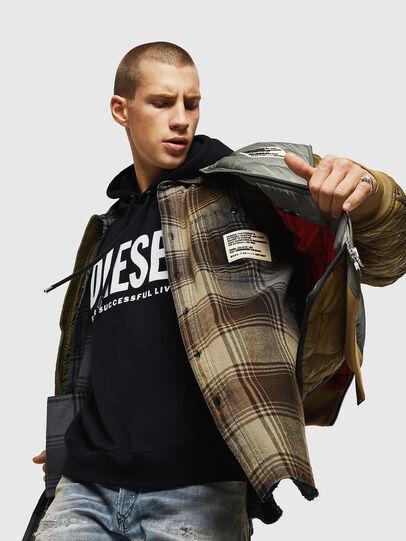 Diesel - S-MINER, Brown - Shirts - Image 4