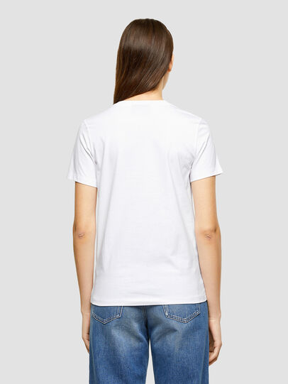 Diesel - T-SILY-K9, White - T-Shirts - Image 2