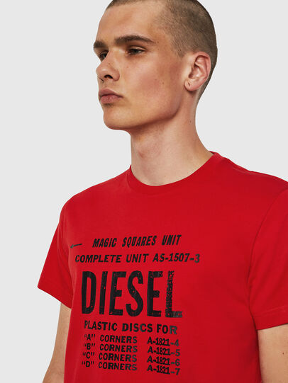 Diesel - T-DIEGO-B6, Fire Red - T-Shirts - Image 3