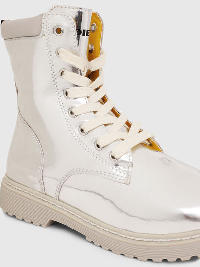 Diesel - HB LACE UP 04 CH, Silver - Footwear - Image 4