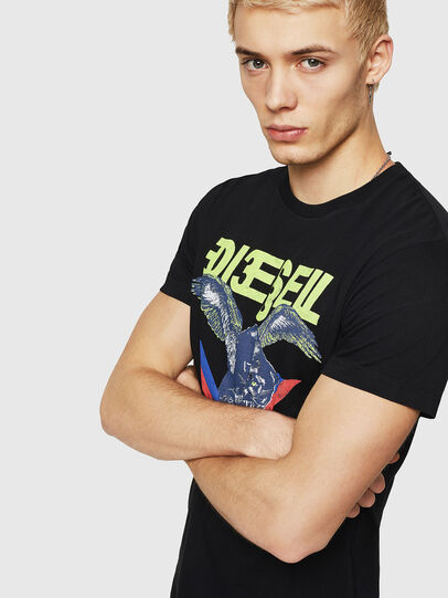 Diesel - T-DIEGO-A4, Black - T-Shirts - Image 4