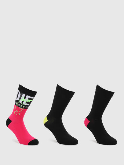 Diesel - SKM-HERMINE-THREEPAC, Black/Pink - Socks - Image 1